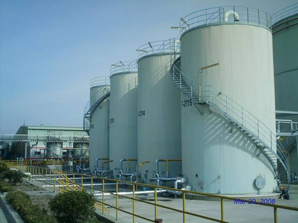 Base Oil Storage Tanks